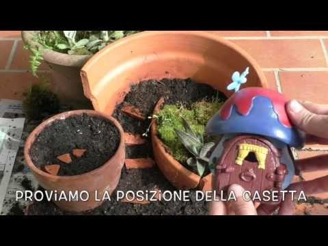 VASO ROTTO - GIARDINO IN MINIATURA - YouTube