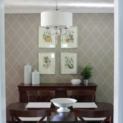 36 best images about dining room on pinterest for Dining room decorating ideas wallpaper