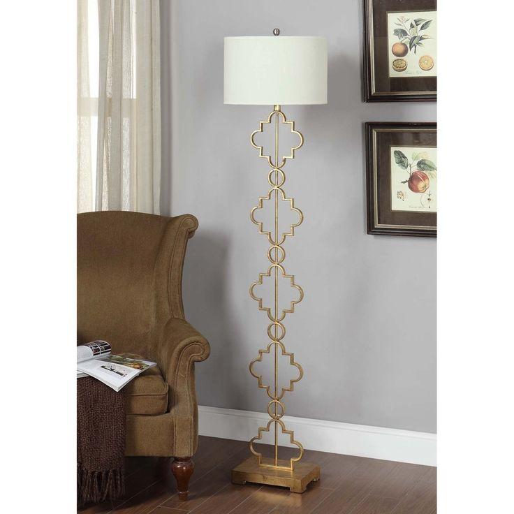Gold Leaf Moroccan Floor Lamp | Overstock.com Shopping - Great Deals on Floor Lamps