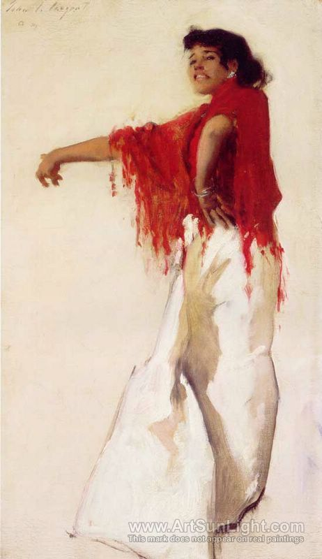 gypsy's in oil paintings  | Spanish Gypsy Dancer 1879 - John Singer Sargent - oil painting ...