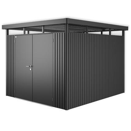 Biohort tuinhuis 'Highline H5 dubbele deur' staal donkergrijs 7,45 m²