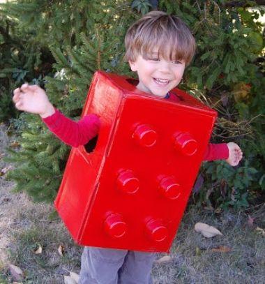 Easy quick last-minute lego halloween costume for kids / Vicces legó jelmez gyerekeknek egyszerűen karton dobozból / Mindy - craft tutorial collection