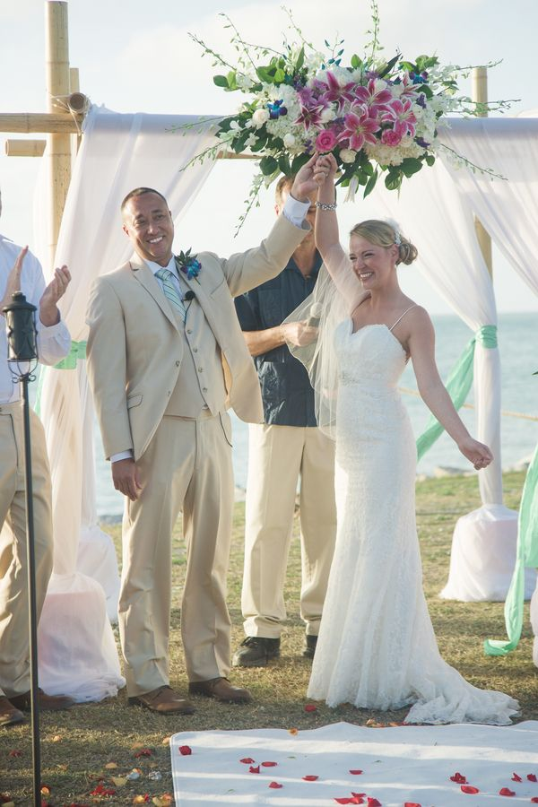 small beach wedding ceremony ideas%0A Florida Beach Wedding by Megan Ellis Photography