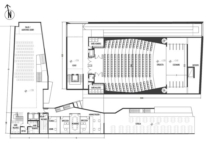 Concurso centro cultural de c rdiba planos de for Planos de arquitectura