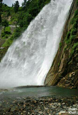 So beautiful Cham waterfall Azad Kashmir Pakistan