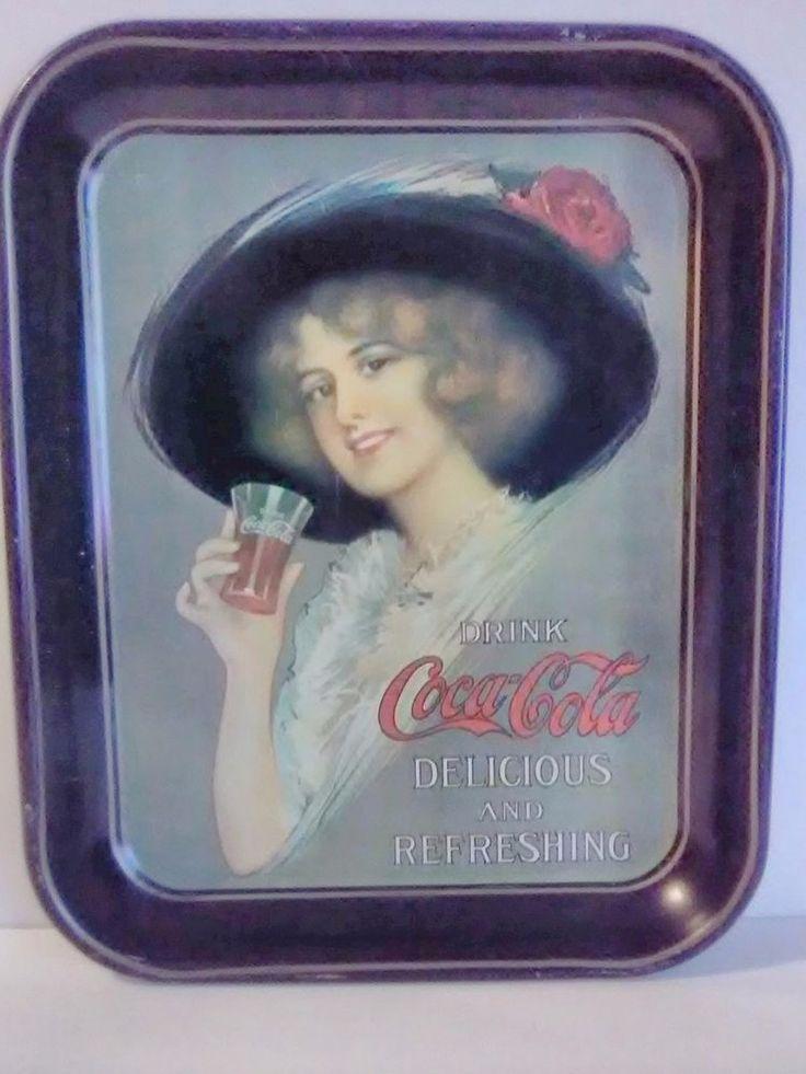 Vintage Coca Cola Coke Drink Serving Tray Hamilton King Girl #CocaCola