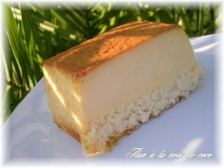 Recette flan antillais par Stéphanie : Une recette de Belle-Maman et le dessert préféré de mon chéri..Ingrédients : noix, noix de coco, oeuf, lait, caramel