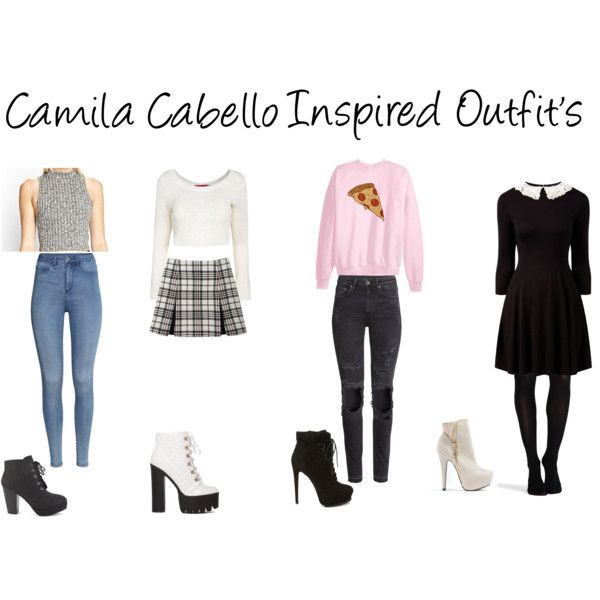 """Camila Cabello Inspired Outfits"" by glitergal on Polyvore"