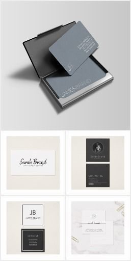 Simple Minimalist Business Cards Business cards templates for everyone who likes their business cards with minimalist design and professional. Simple design with a focus on your contact details.