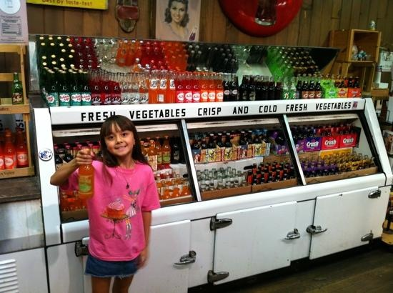 Terrified of the soda, just like the display case