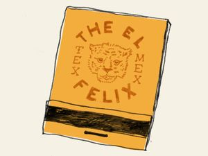 The El Felix Avalon, Alpharetta, Ga. #matchbox Design by Alvin Diec To design & order your business' own advertising #matches GoTo GetMatches.com