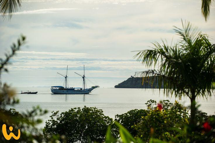 Das Traumschiff??  #wirodive #lebedeinleben #fiji #cool #tauchen #tauchreise #palmen #strand #sonne #sommer #meer #tauchreisen #erlebnisreisen #wolken #berge #grün #touchedbynature