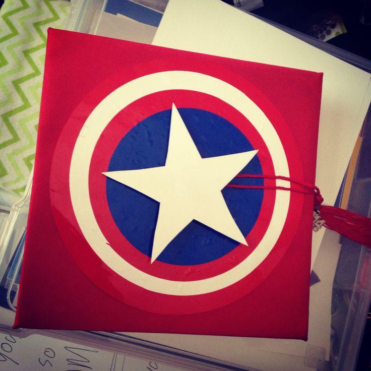 Captain America decoration for my graduation cap.