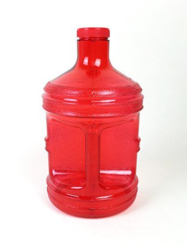 1 Gallon Water Bottle Red BPA Free Plastic Jug Canteen Reusable Container Drinking H2O Aqua New * Click image for more details.