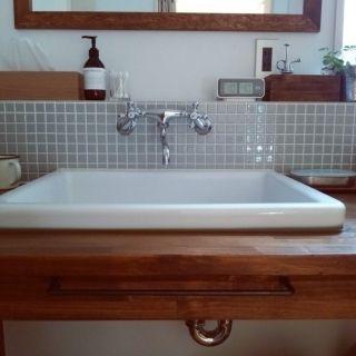 TOTO 実験用シンク 銭湯の脱衣所likeなクッションフロアのインテリア実例 | RoomClip (ルームクリップ)
