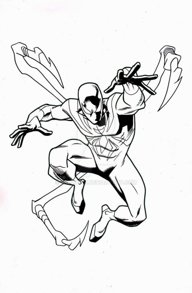 Iron Spider Coloring Pages Spiderman Coloring Spider