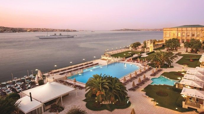 The hotel Ciragan Palace Kempinski in Istanbul, Turquie