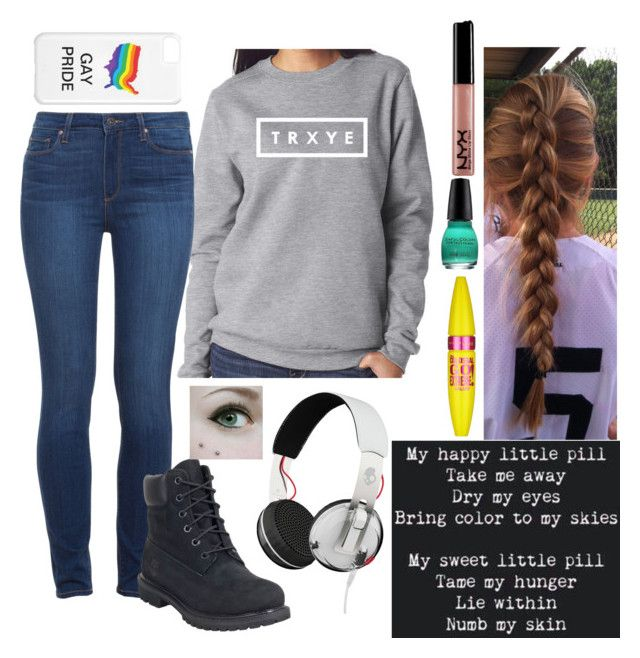 """""""Troye Sivan"""" by ebf1278 ❤ liked on Polyvore featuring Paige Denim, Timberland, Maybelline, Skullcandy, women's clothing, women's fashion, women, female, woman and misses"""