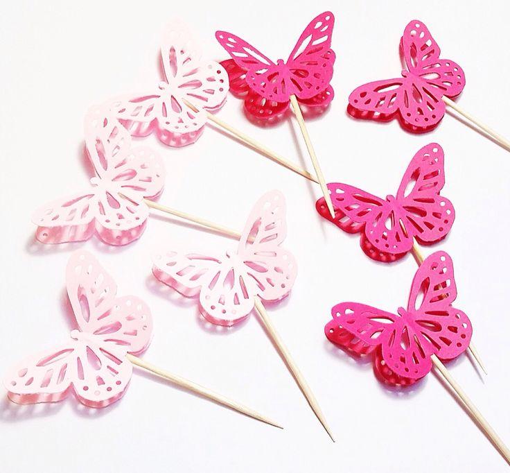 Mini Borboletas de papel - 10 unidades #borboleta #papel #festa #decoração #mini