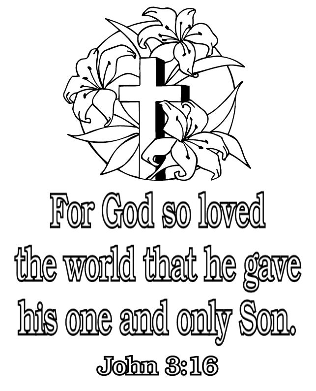 John 3 16 Bible Verse Wallpaperspicturescoloring Pagesphotos