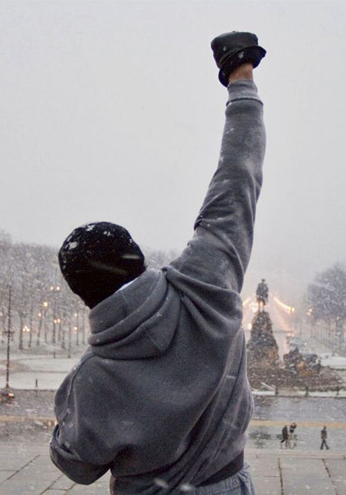 """Rocky Balboa -  When I played """"school"""" with my sister & cousins, I was the teacher...I used to sign their schoolwork """"Mrs. Stallone"""" because of this dude! LOL!  Gotta Love Sly"""