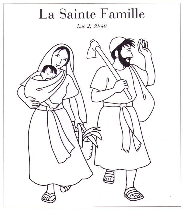 Coloriage Sainte Famille.La Sainte Famille Religion Catechisme Saint Et Evangile