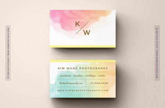 BRICOLAGE cartes de visite - Instant Download - modèle de fiche contact imprimable - la « Kim »