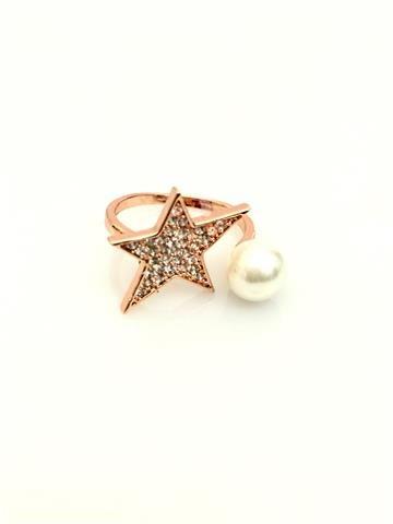 La Bella Donna - Γυναικειο δαχτυλίδι με αστερι και περλα
