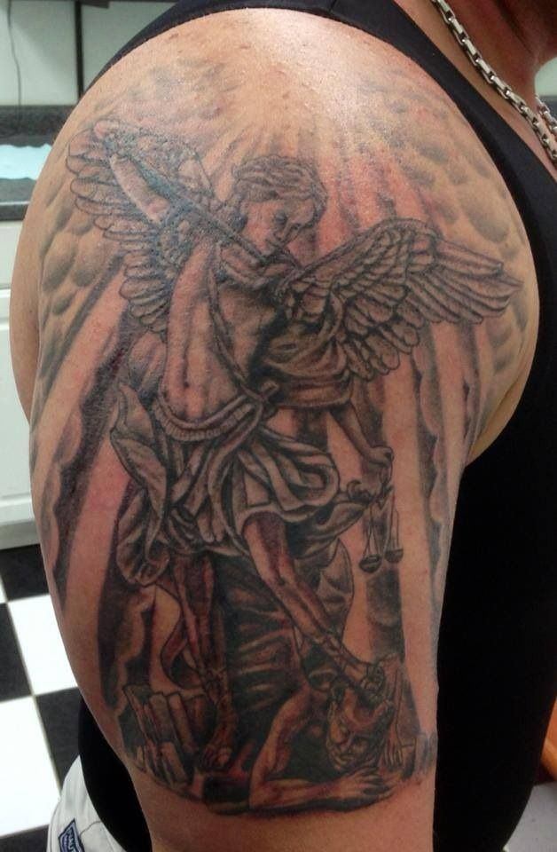 St. Michael casting out Lucifer by Fish @ Whole Addiction ...