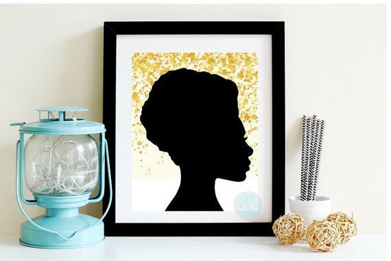 PRINTABLE ART Gold Foil Afrocentric Artwork African American Woman Poster Natural Hair Art Woman Of Color Gold Wall Hanging Hair Salon Art by PeaceLuvJoyDesigns