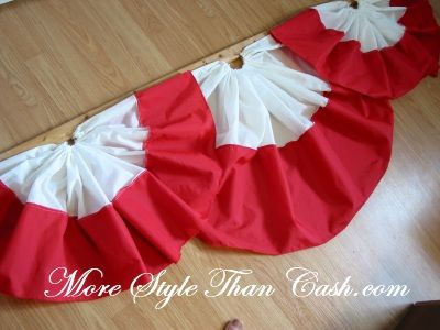 Sewing bunting for Canada day or the 4th of July. Show your patriotism.