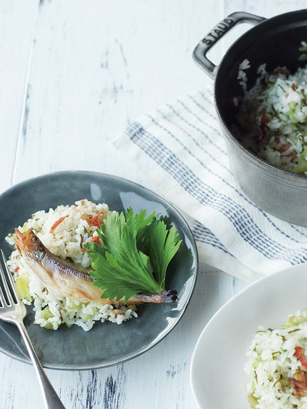 セロリの爽快感とふくよかなししゃもの味がマッチ 『ELLE a table』はおしゃれで簡単なレシピが満載!