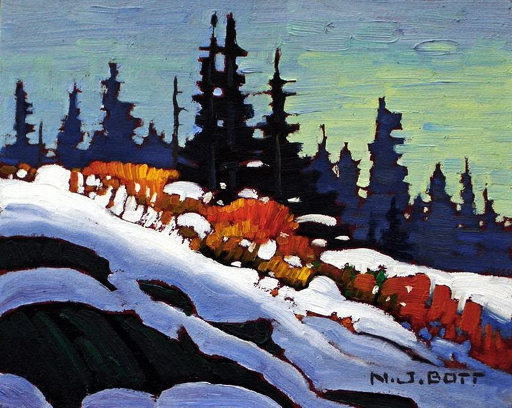 """Tongas - October Snow,"" by Nicholas Bott - 8x10"
