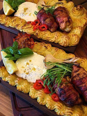 Plankstek med ostfyllda kycklinglårfiléer, parmesanduchesse och citronaioli – Kryddburken
