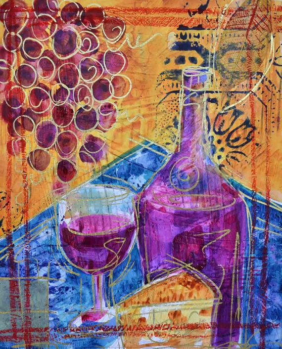17 Best images about Wine Art on Pinterest | Abstract ...