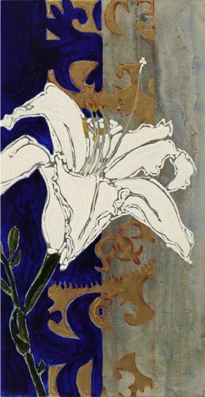 "Robert Kushner Prints | Robert Kushner, ""Lily"", 2011, oil, acrylic, gold leaf on canvas ..."