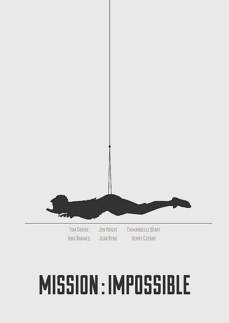 Mission : Impossible - minimalist poster | Flickr - Photo Sharing!