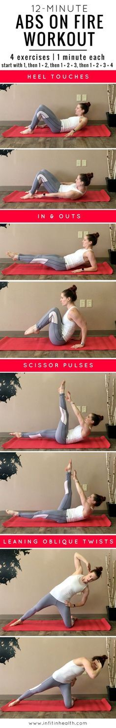 12-Minute Abs On Fire Workout How to lose weight fast in 2017 get ready to summer #weightloss #fitness