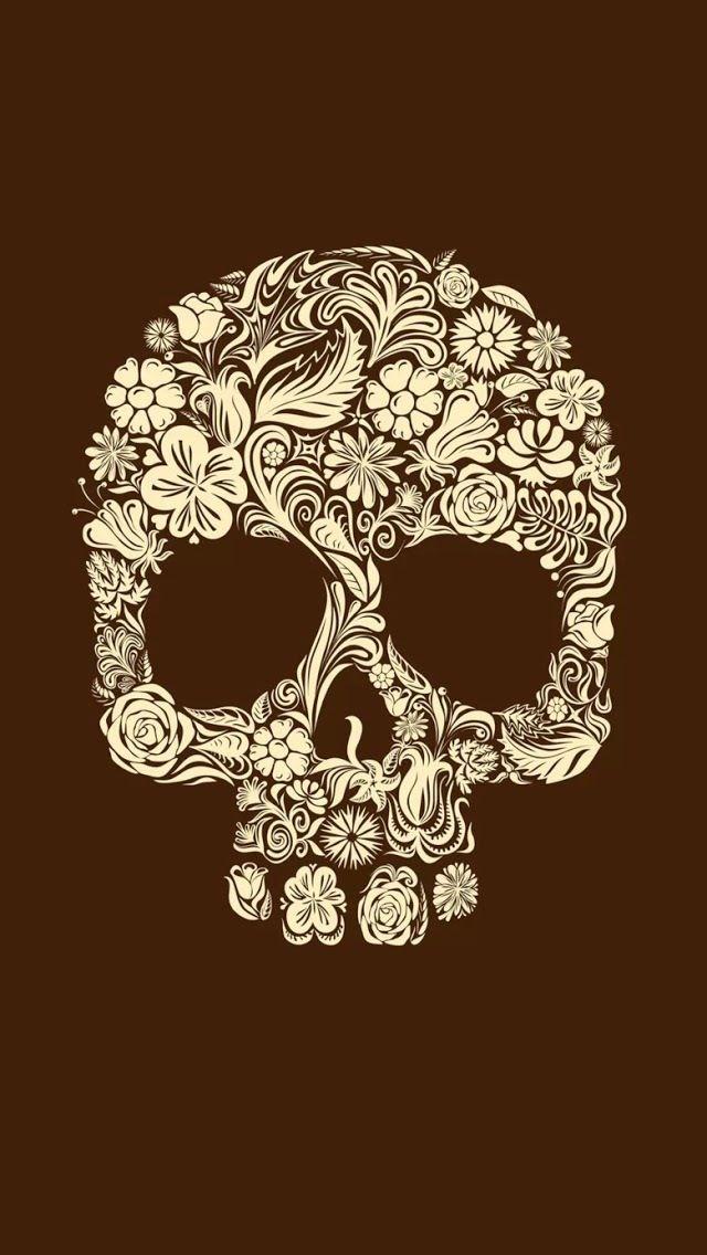 Caveira de flores