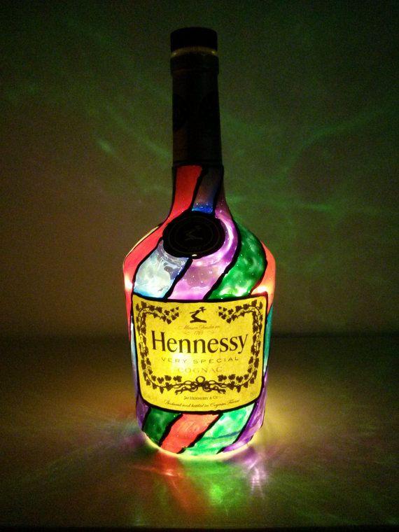 Hennessy Cognac 750ml Liquor Bottle Upcycledrepurposed