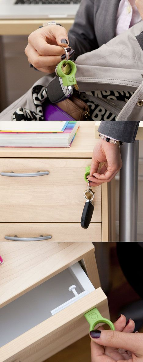 Here's a neat way to introduce a measure of security to drawers: The Covert universal lock, a project currently under development consideration at Quirky. It's a simple magnetic latch that you attach to the inside of the drawer.