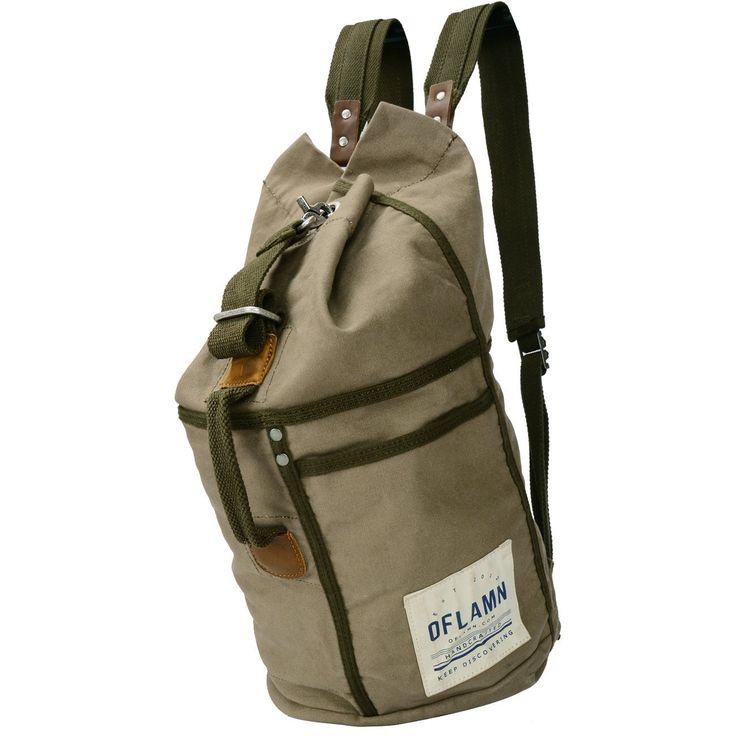 Oflamn Vintage Große Rucksack aus Segeltuch Leder Damen Herren Wanderrucksack Trekkingrucksack Outdoor Camping Tasche für Sport Daypack für Alltag: Amazon.de: Koffer, Rucksäcke & Taschen