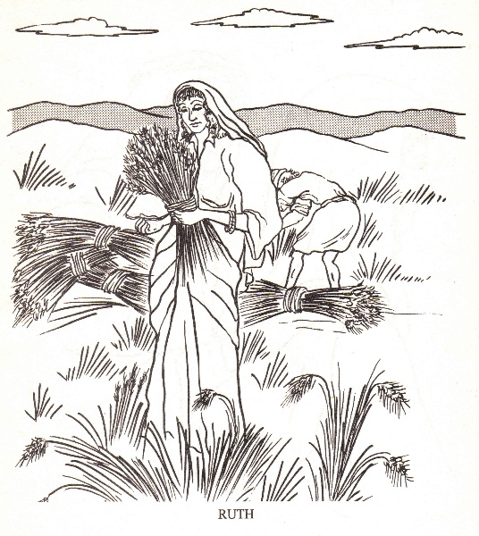 ruth gleaning coloring pages - photo#16