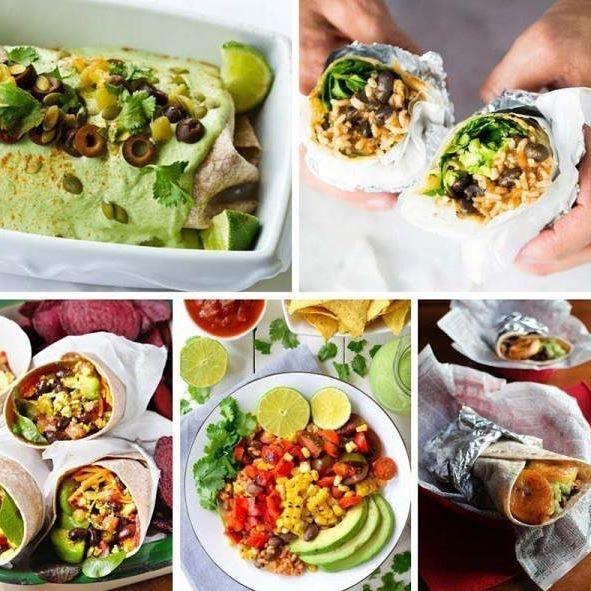 18 Vegan Burritos for 5 de Mayo. All vegan, all different, and all delicious!! Click on link in profile to get recipe. #veganfoodshare #veganmexican #mexicanvegan #veganfoodporn #veganfoodshare #vegansofinstagram #vegansofig #vegano #veganosmexico #plantstrong #veganshare #vegancommunity #bestofvegan #cincodemayo #burrito