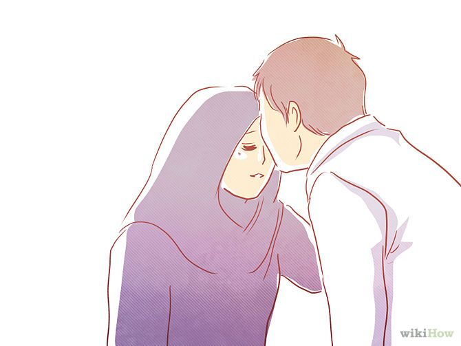 Kiss your wife on the cheek before you go to pray Salah. Prophet Muhammad (PBUH) would do this with Aisha RA