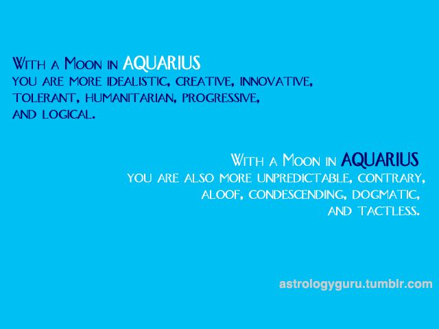 Moon in Aquarius. #Zodiac #Astrology For related posts, please check out my FB page: https://www.facebook.com/TheZodiacZone