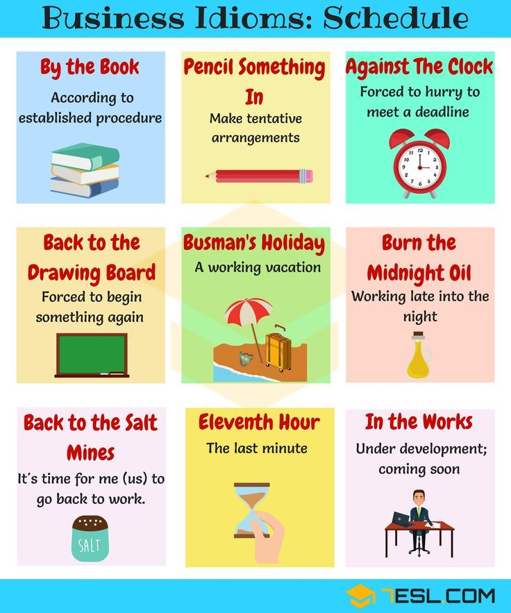 20+ Phrases & Idioms About Schedules And Planning Idioms