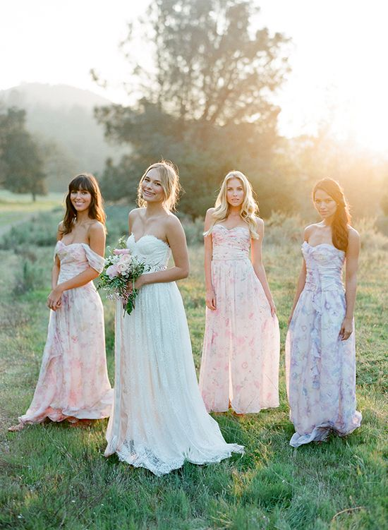 @plumprettysugar introduces PPS Couture Bridesmaid Dresses - Would you like your maids in these patterned pretties?