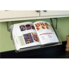 retractable under the cabinet cookbook holder