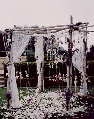 hippie chic wedding chuppah: haha YES! I'd love to get married under something like this :)